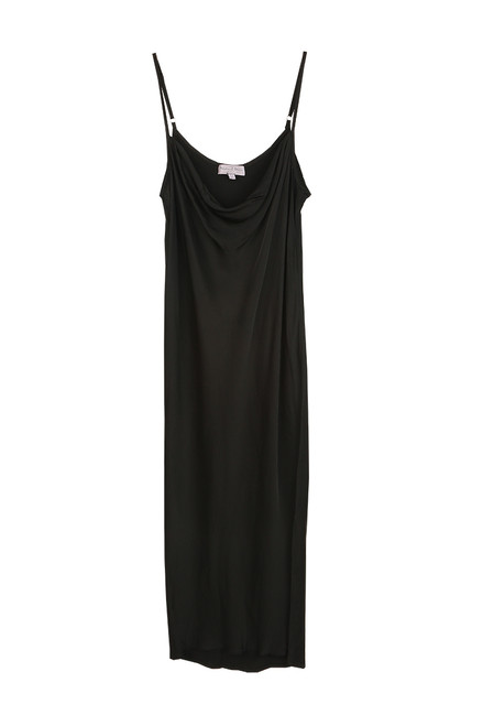 Pearl Cowl Neck Slip Midi Dress