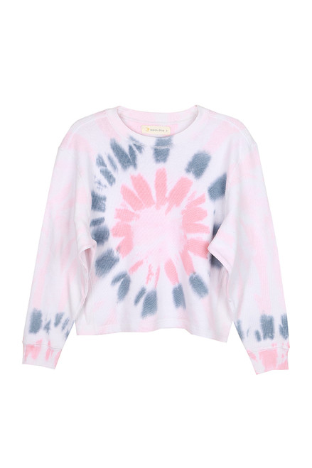 Tie Dye Cropped Crewneck Sweatshirt (+ colors)
