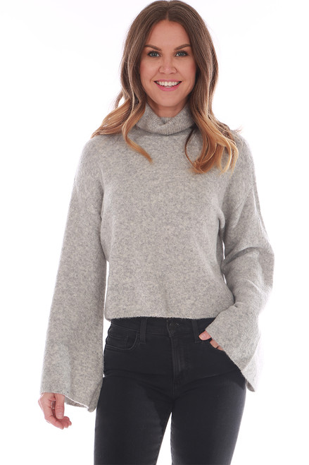 Cropped Flare Turtle Neck Sweater (+ colors)