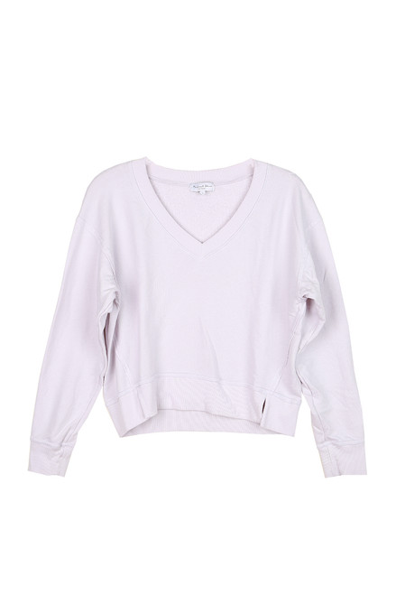 Camila V-Neck Cropped Sweatshirt