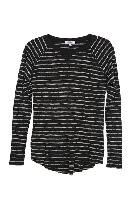 Treasure Unfinished Hem L/S Ribbed Tee