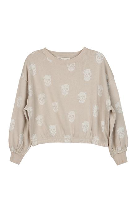Skull Burnout Banded Sweatshirt
