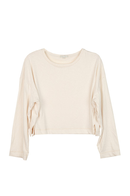 Simone Terry Cropped L/S Top