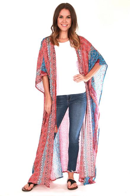 Marrakesh Metallic Maxi Kimono