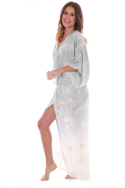 Twist-Front Maxi Coverup