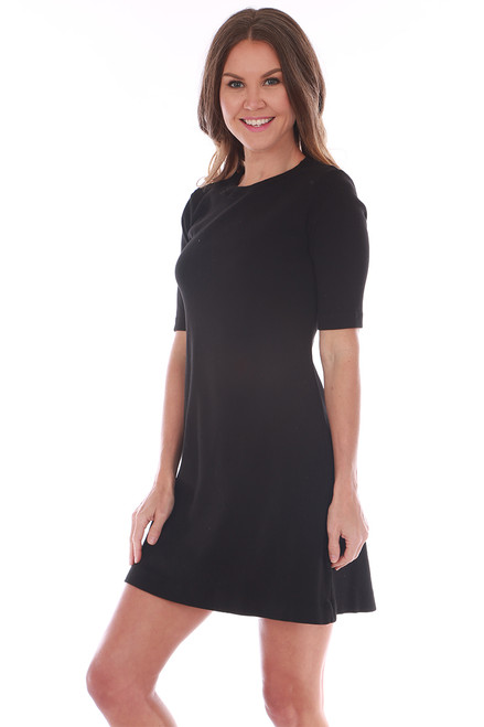Milo Elbow Sleeve Crew Mini Dress