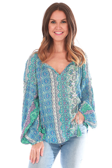 Marrakesh Printed L/S Blouse (+ colors)