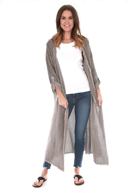 Linen Maxi Lightweight Jacket