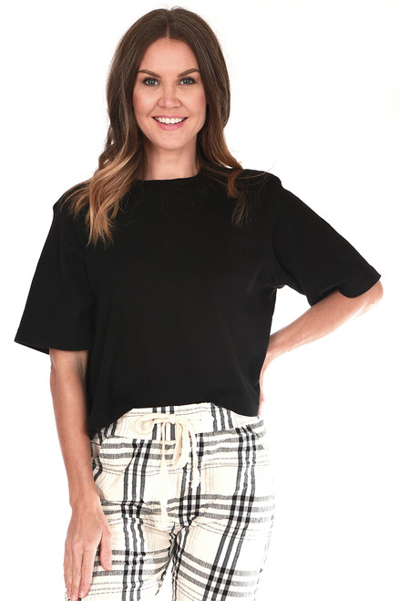 Brenna Boxy Cropped Tee (+ colors)