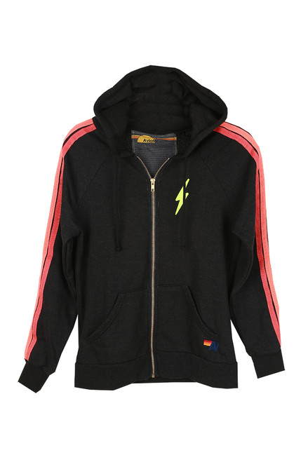 Bolt Embroidered Zip Up Hoodie