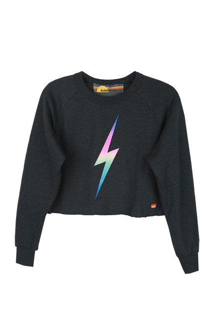 Bolt Cropped Crew Sweatshirt