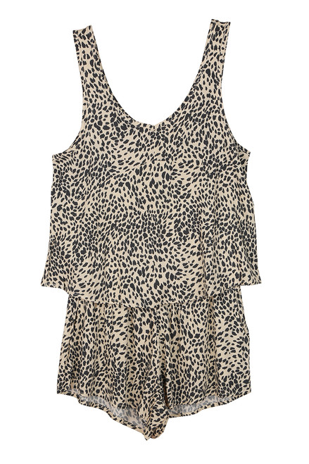 Leopard Tank & Shorts Set