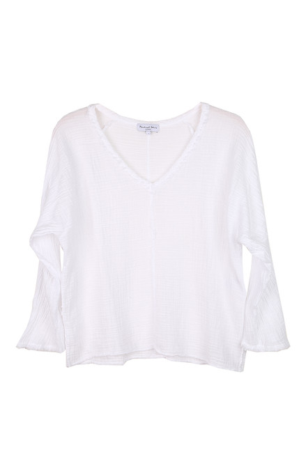 Gio V-Neck L/S Muslin Top (+ colors)