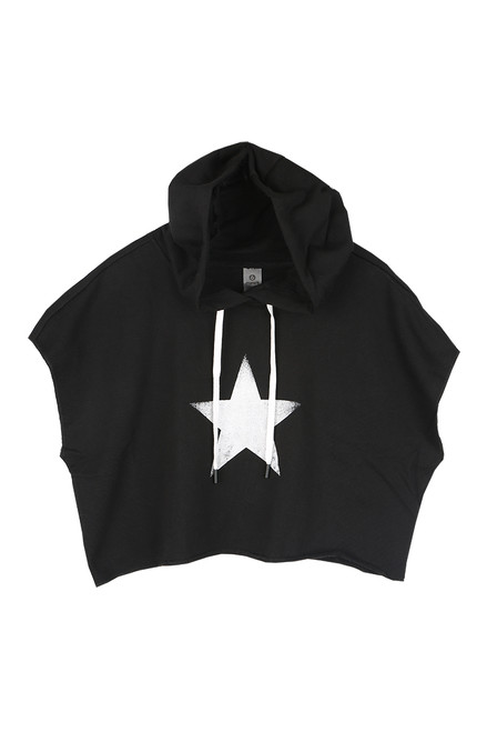 Star Cropped S/S Hoodie (+ colors)
