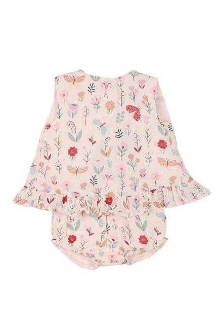 Butterfly Garden Ruffle Top & Bloomers Set (Infant)