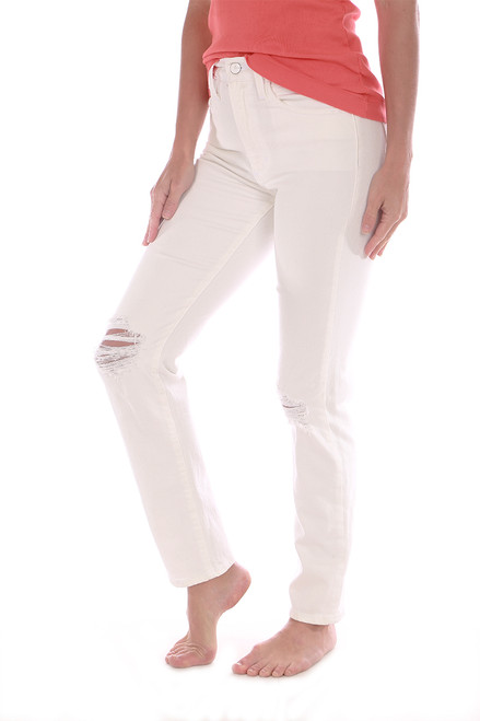 The Luna Straight Ankle Jeans