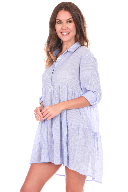 L/S Tiered Tunic Blouse