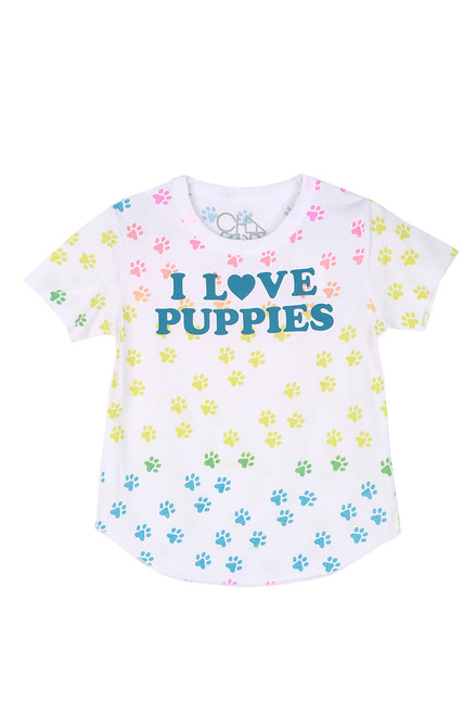 I Love Puppies Tee (Toddler/Little/Big Kid)