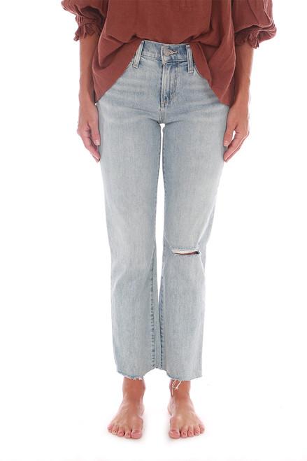 The Lara Cropped Raw Hem Straight Jeans