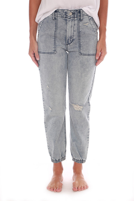 The French Terry Denim Joggers