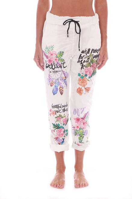 Believe Printed Pants