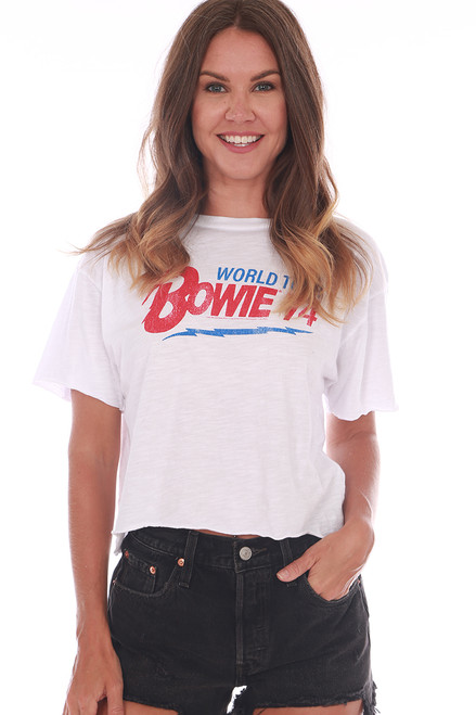 David Bowie Cropped Band Tee