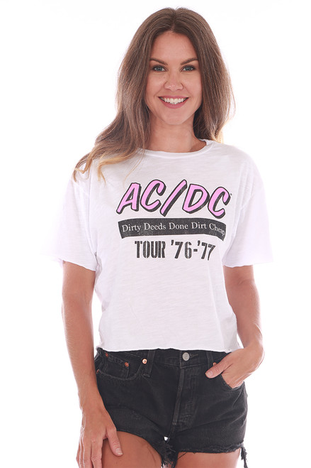 ACDC Tour Cropped Band Tee