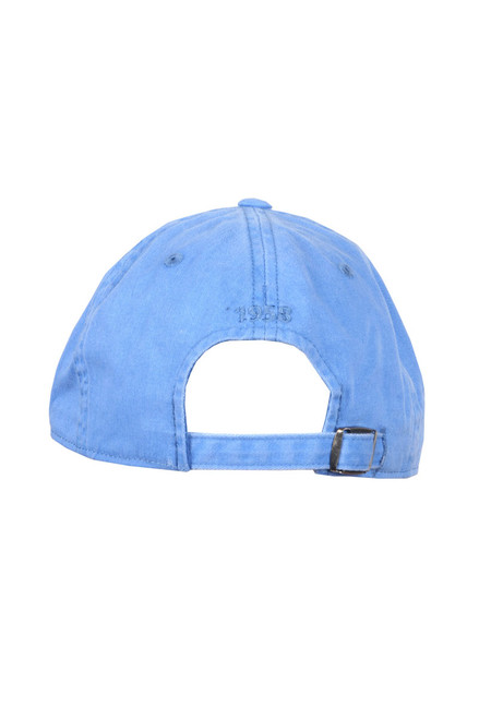 760db86c3e8 ... Back shows bright baby blue New Raglan LA Dodgers Baseball Cap with  unstructured slouch