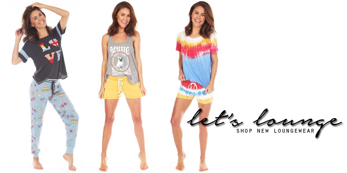 let's lounge! shop new loungewear