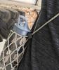 Cube Shape Cord Lock - Black In Use