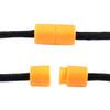 Plastic Lanyard Safety Pop Barrel Connector - Neon Orange - 4