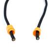 Plastic Lanyard Safety Pop Barrel Connector - Neon Orange - 3