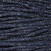 3-Strand Twisted Cotton 1/4 inch Rope - Black Sparkle