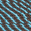 3-Strand Twisted Cotton 1/4 inch Rope - Cookie Monster