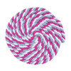 1/2 Inch Twisted Cotton Rope - White/Gray/Pink
