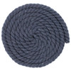 1/2 Inch Twisted Cotton Rope - Dark Gray