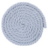 1/2 Inch Twisted Cotton Rope - Light Gray