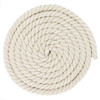 1/2 Inch Twisted Cotton Rope - Rice White