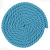 1/2 Inch Twisted Cotton Rope - Cyan