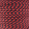 Imperial Red and Black 550 Paracord (7-Strand) - Spools