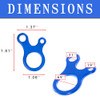3 Hole Tensioner/Carabiner - Dimensions