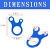 3 Hole Tensioner/Carabiner - Dimensions