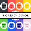 Rainbow Double Barrel Cord Lock - 40 Pack