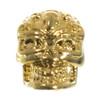 Swirl Skull Bead - Gold