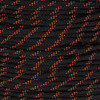 Black with Orange Tracers 550 Paracord (7-Strand) - Spools