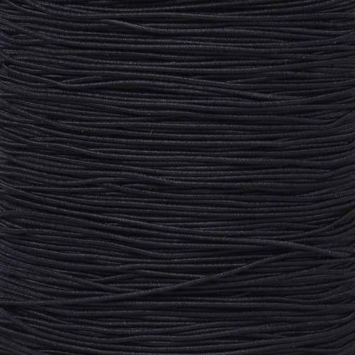 """Black 1/32"""" Elastic Cord - Spools"""