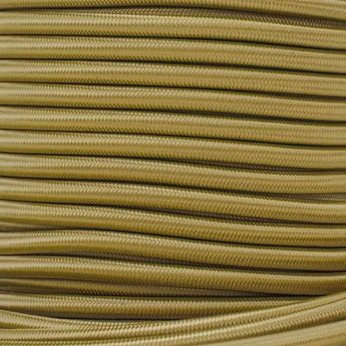 "Gold Bungee Shock Stretch Cord 1/4"" Diameter"