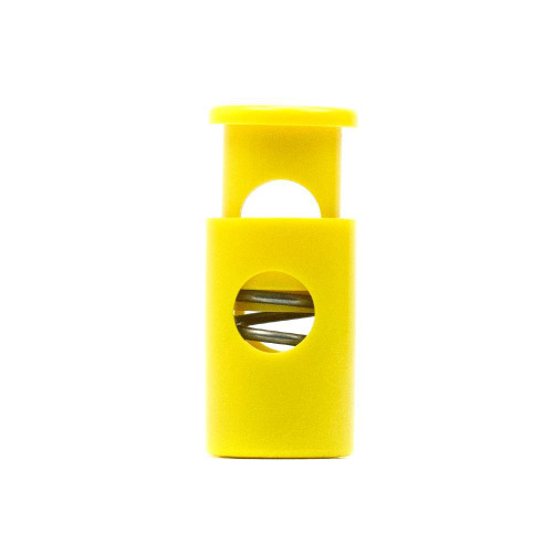 Single Barrel Hole Top Cord Lock - Mustard