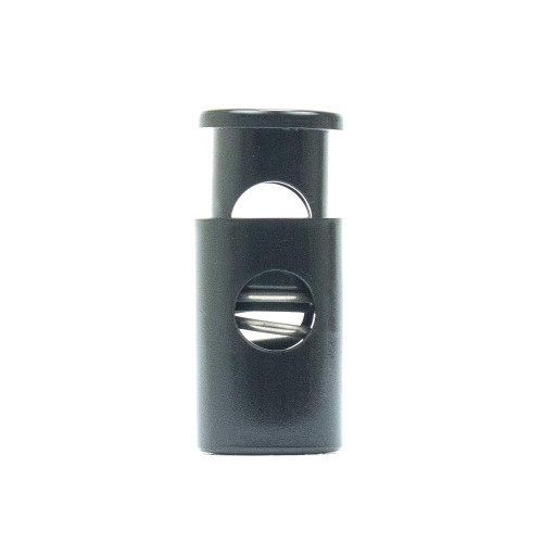 Single Barrel Hole Top Cord Lock - Black