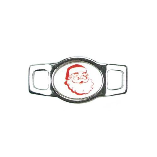 Holiday Oval Charm - Santa